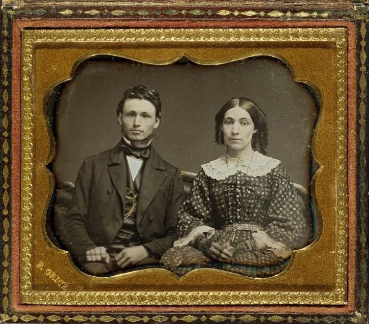 Researching genealogy - Unidentified husband and wife - Portrait c1855