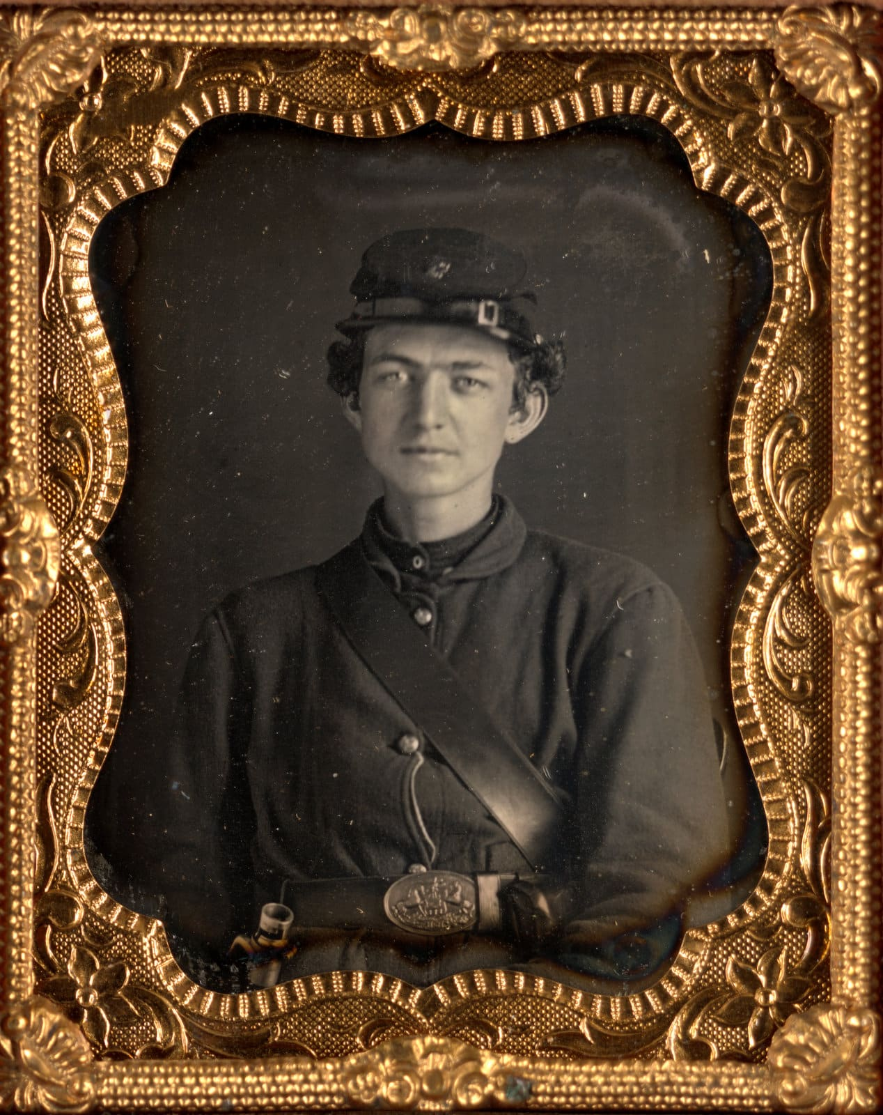 Unidentified young soldier during the Civil War