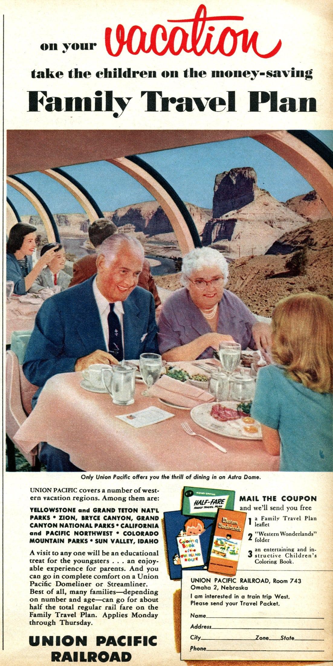 Union Pacific railroad travel (1956)
