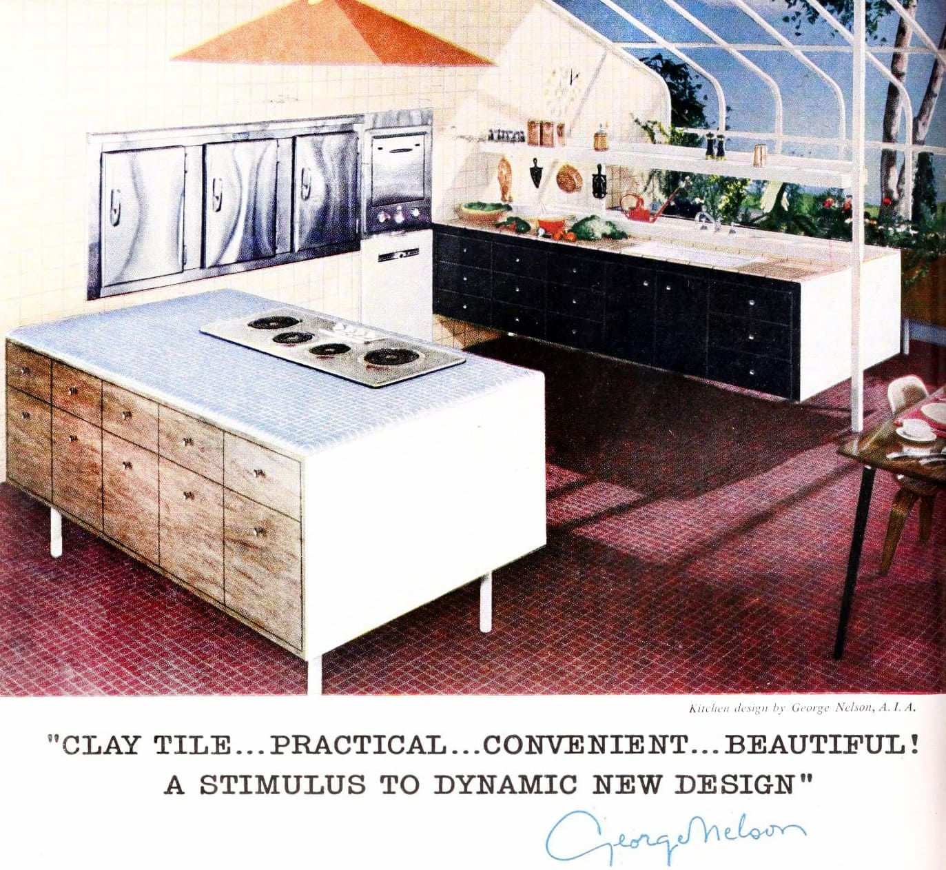 Unique architect-designed kitchen from the 1950s