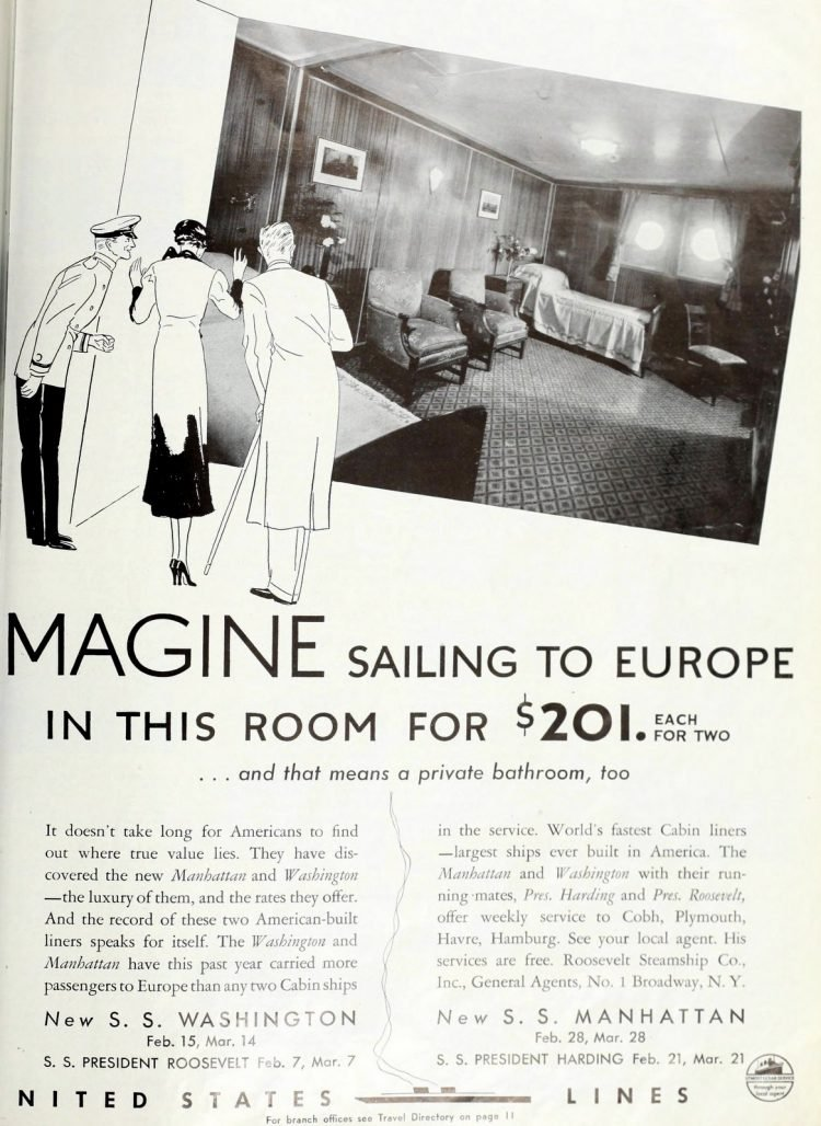United States Lines - Vintage cruise ship cabins in 1934 (2)