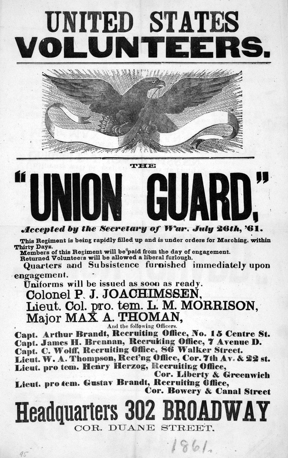 United States volunteers - Union Guard
