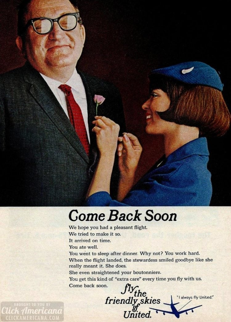 United stewardess - Come back soon