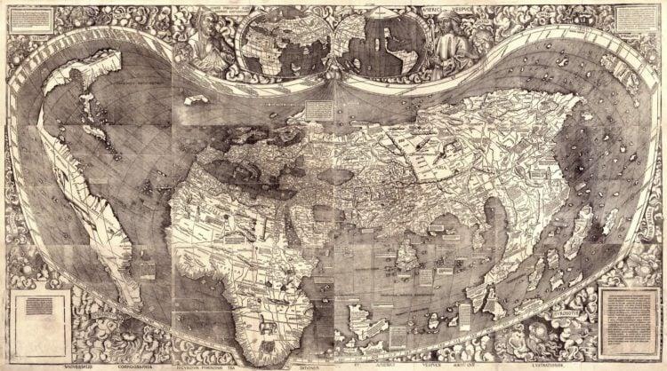 Universalis cosmographia secundum Ptholomaei traditionem et Americi Vespucii - How did America get its name