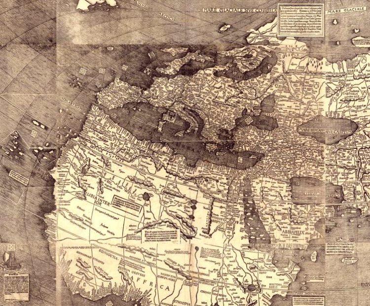 Universalis cosmographia secundum Ptholomaei traditionem et Americi Vespucii alioruue lustrationes