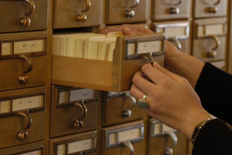 University of Michigan Library card catalog