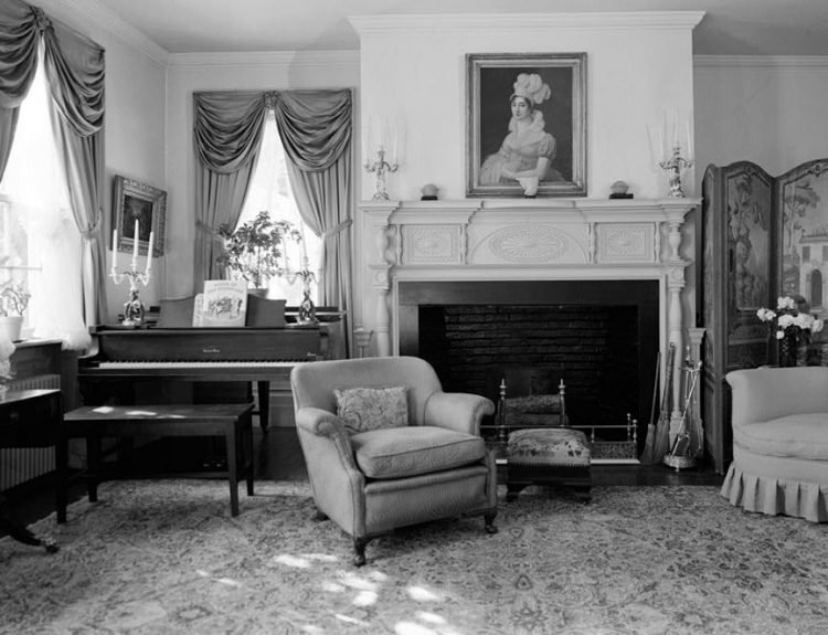 Upstairs sitting room fireplace, New Jersey
