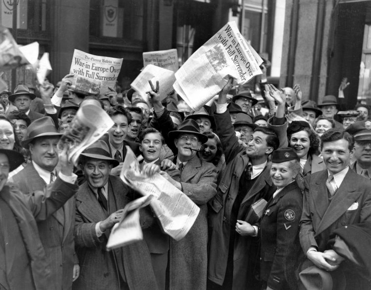 VE (Victory in Europe) Day, Philadelphia, PA, May 8, 1945