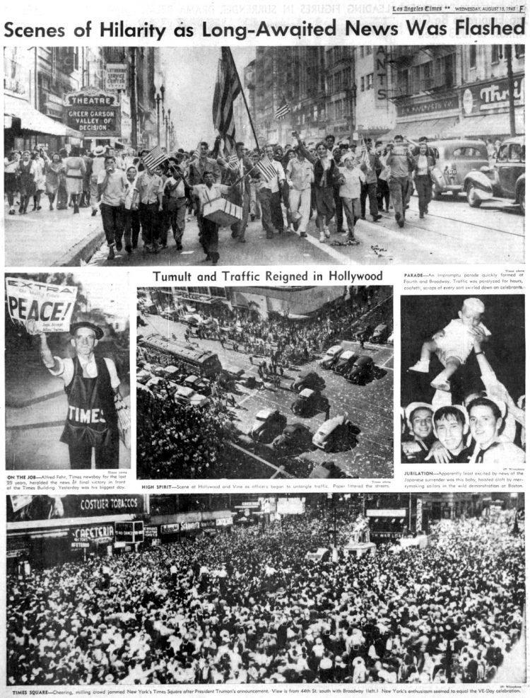 VJ Day - Los Angeles Times - WWII August 15 1945 (1)