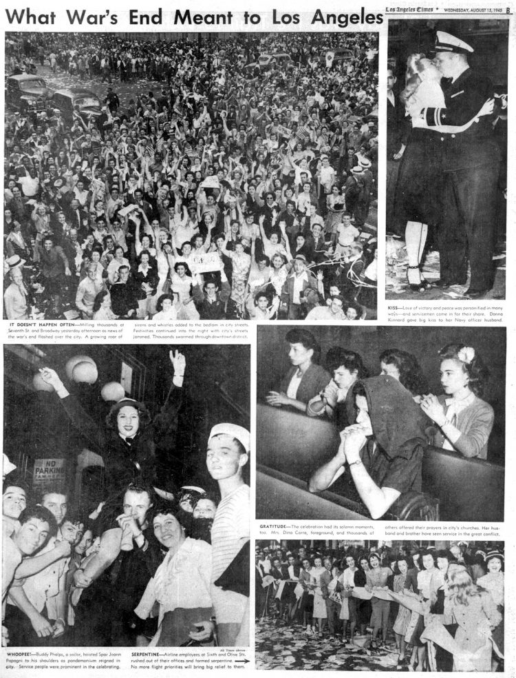 VJ Day - Los Angeles Times - WWII August 15 1945 (2)