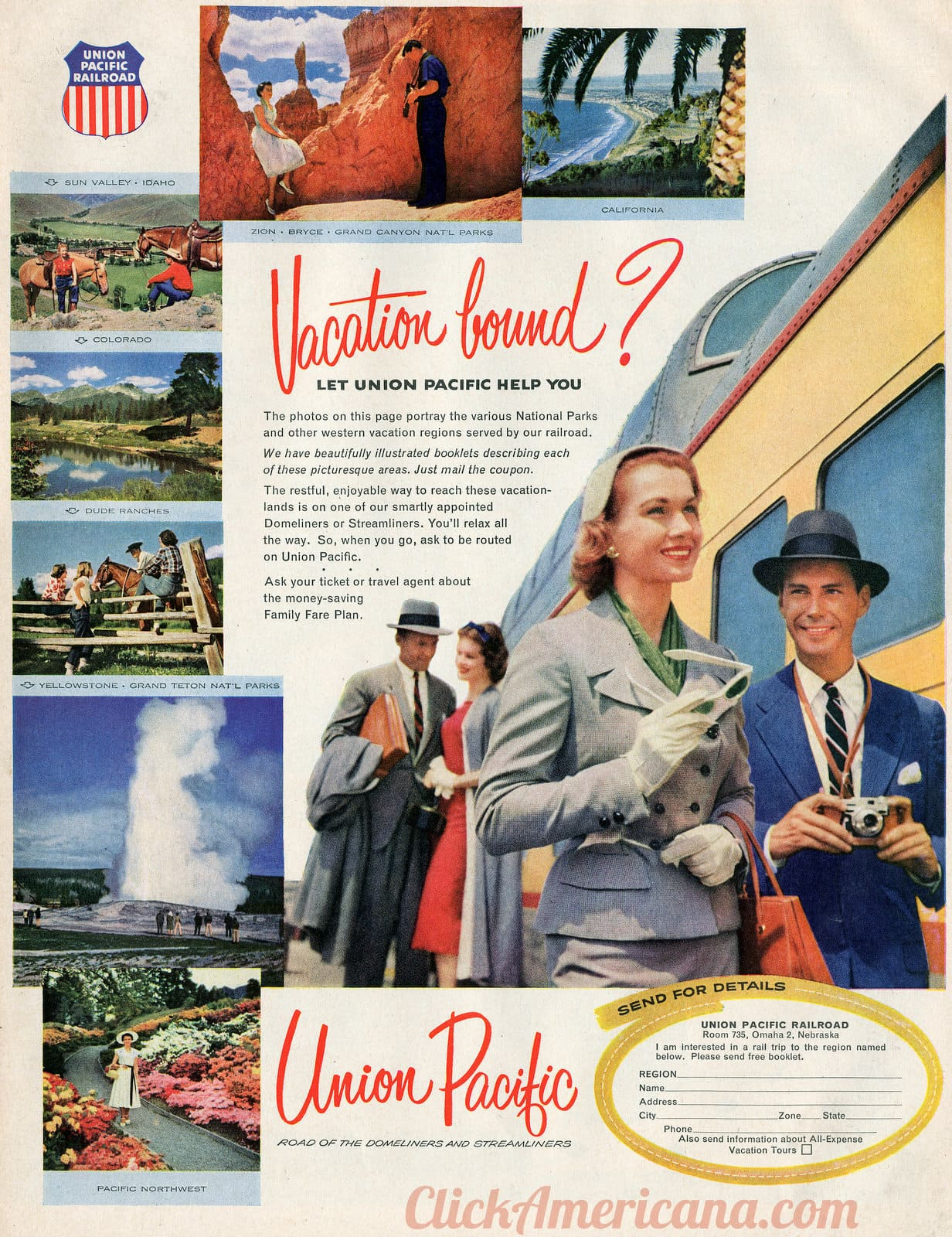 Vacation bound Let Union Pacific help you - National parks (1956)