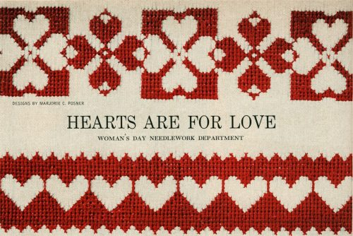 Valentine's day heart cross-stitch ideas from 1955 (1)