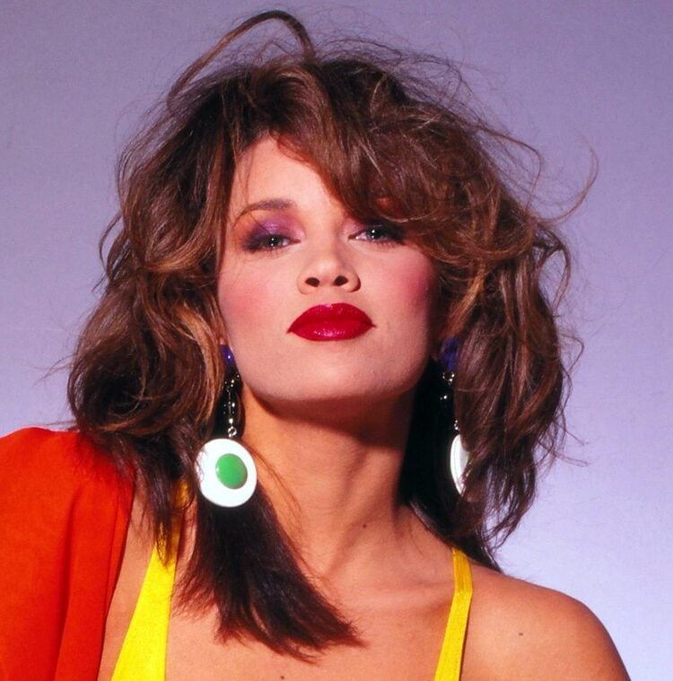Actress/model Vanessa Williams with stylish 80s eye makeup