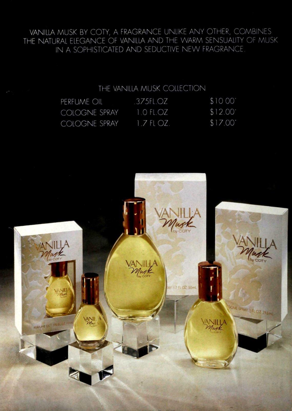 Vanilla Musk by Coty (1994) at ClickAmericana.com
