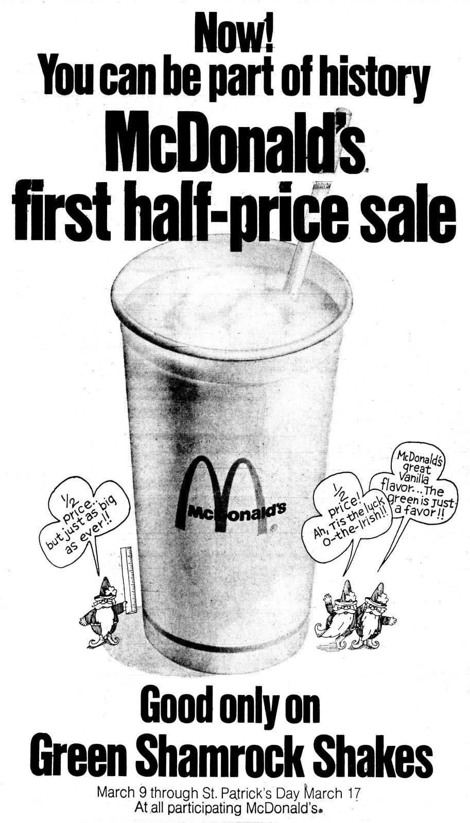 Vanilla-flavor Shamrock Shakes - March 11 1973 - Long Beach Press-Telegram