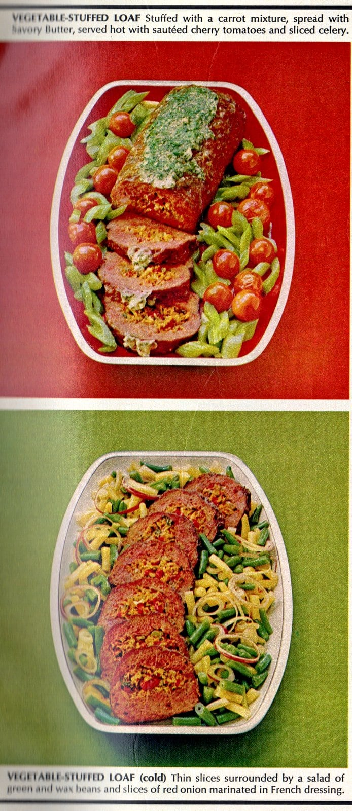 Vegetable-stuffed meatloaf
