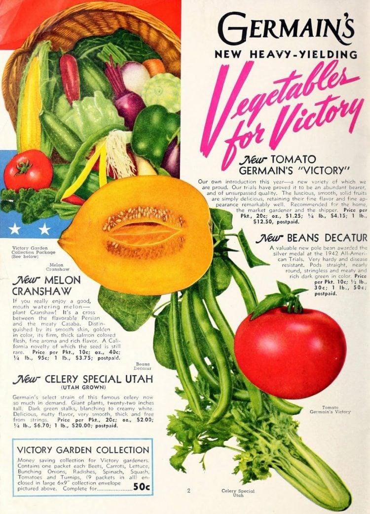 Vegetables for Victory - Germain's 1944