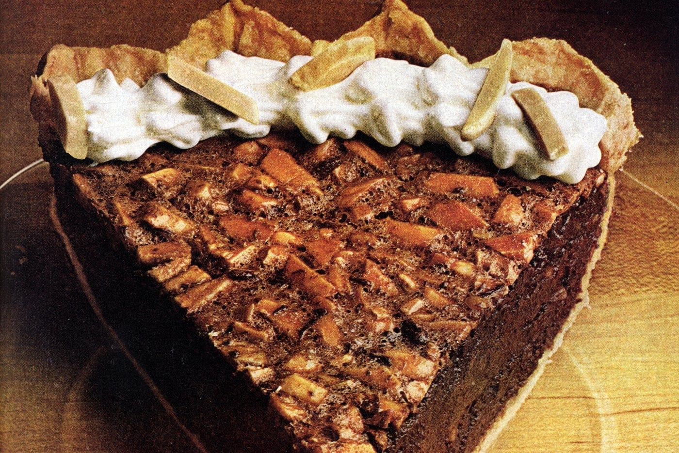 Velvet almond fudge pie (1978)