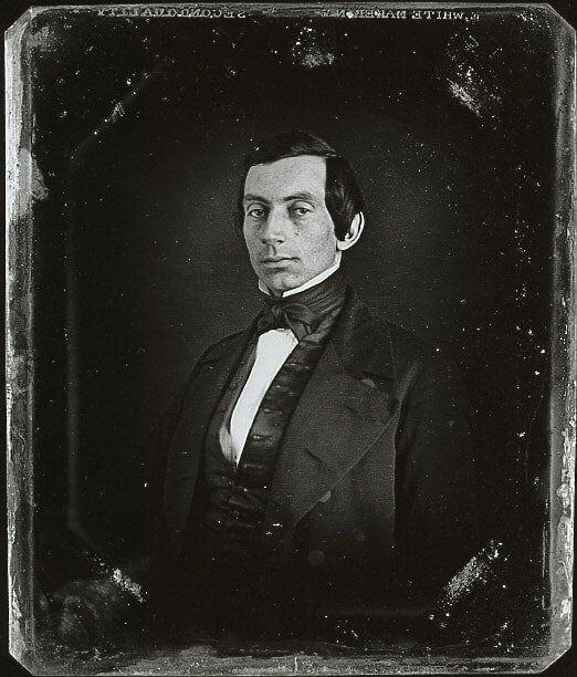 Very early daguerreotype thought to be Abraham Lincoln Copyright Albert Kaplan 1983