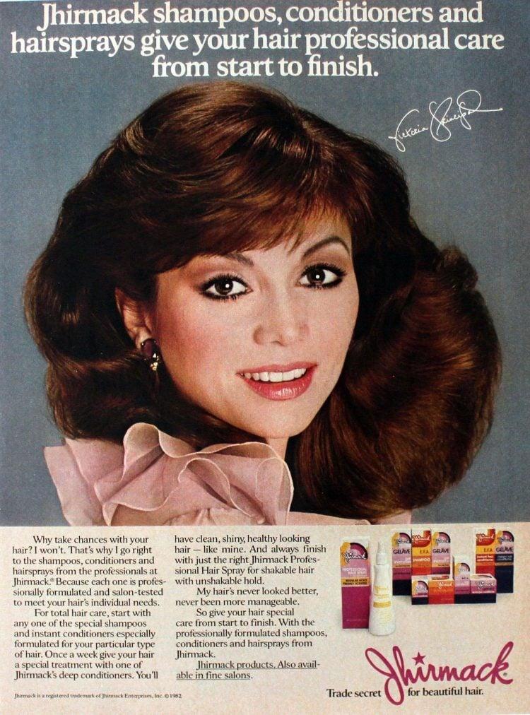 Victoria Principal for Jhirmack 1982
