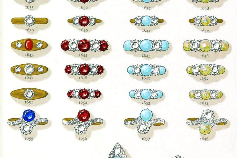Victorian Gemstone rings from 1899
