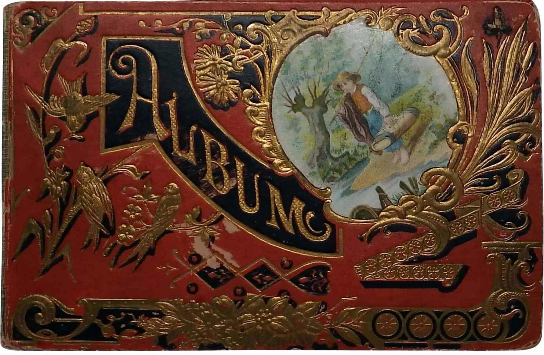 Victorian antique scrapbook albums (1)