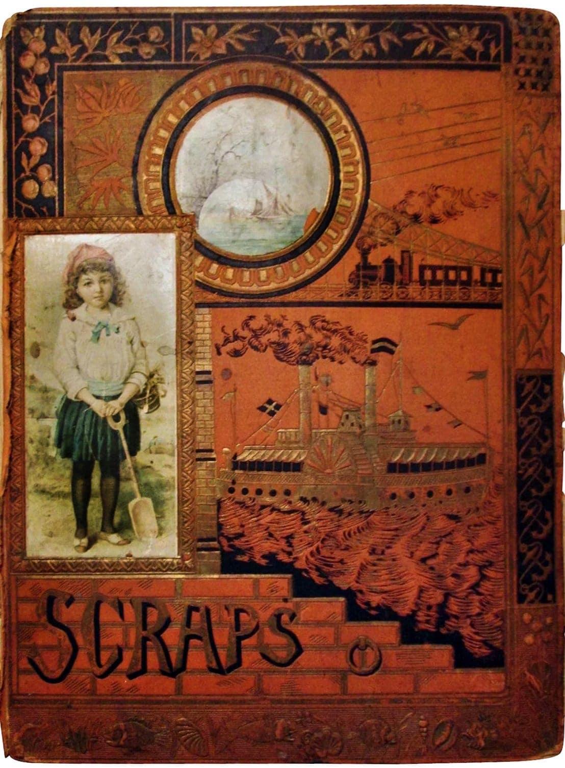 Victorian antique scrapbook albums (2)