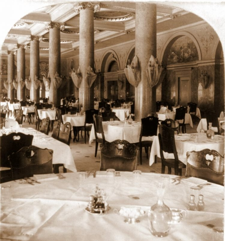Dining Room, Planters Hotel, St. Louis, Mo. 1897