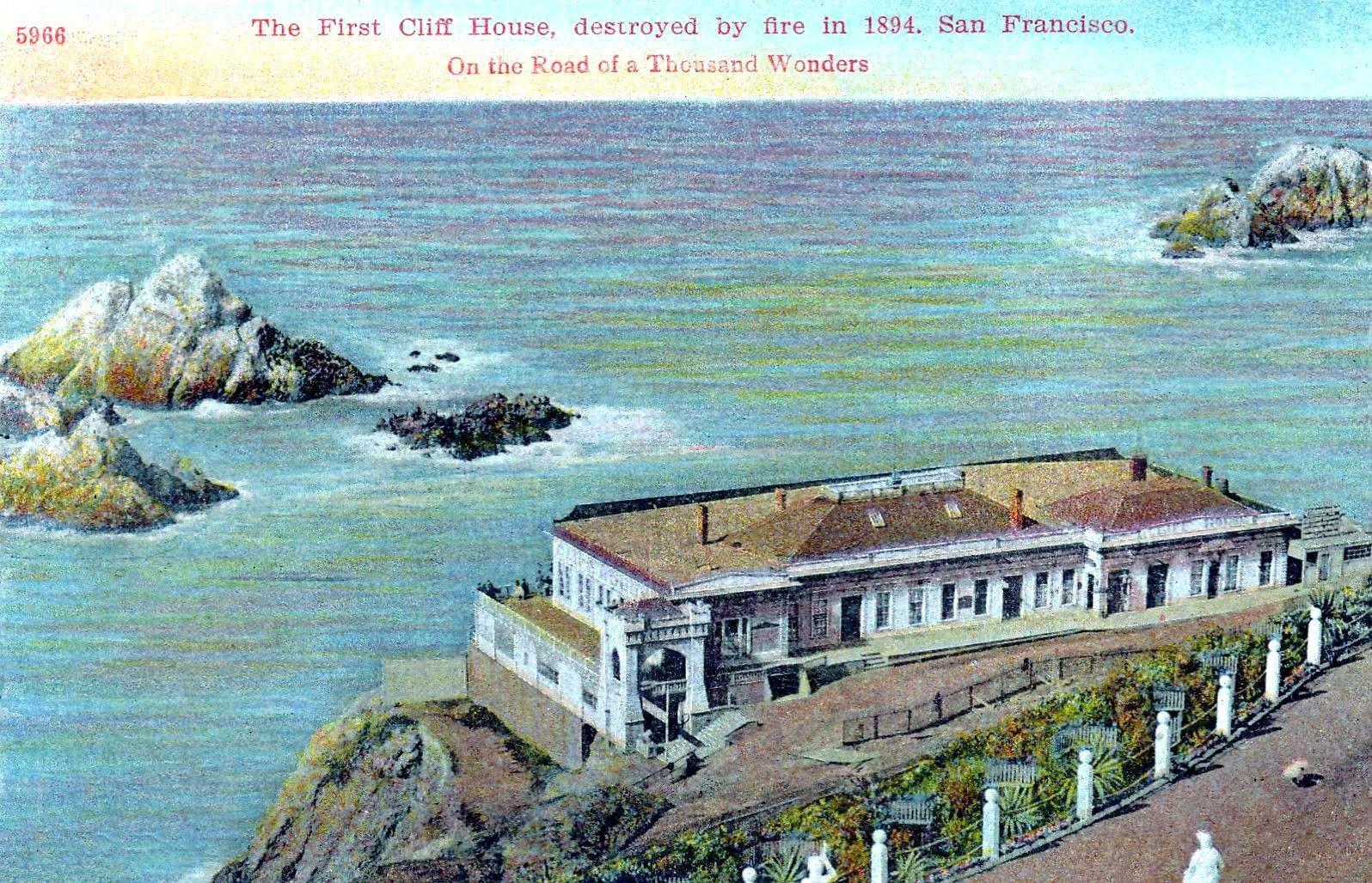 Victorian-era Cliff House - Destroyed in 1894