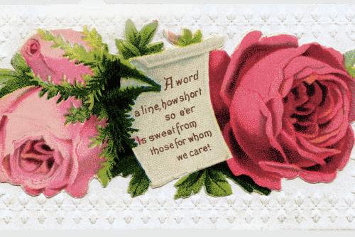 Victorian-era calling card