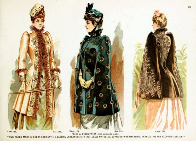 Victorian clothing for women - Jackets and capes, velvet hats