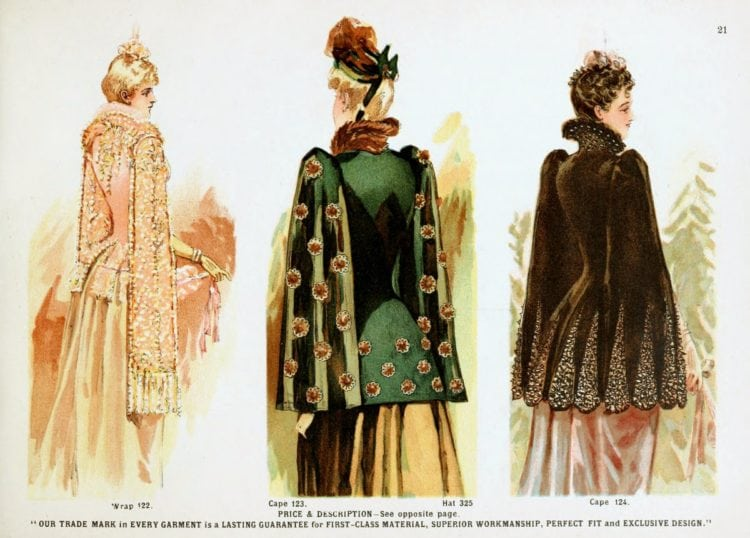 Victorian clothing for women - Opera wrap and capes