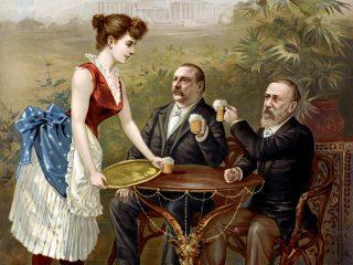 Victorian gentlemen drinking beer in Washington DC 1888