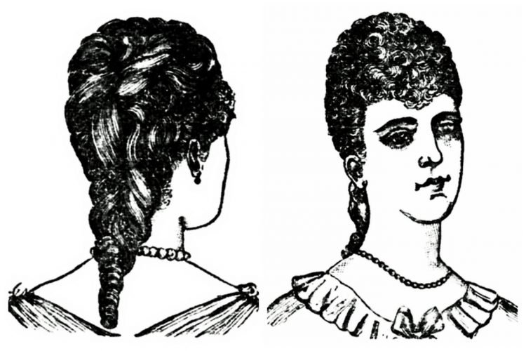 Victorian hairstyle - 1890s - Fluffy curls