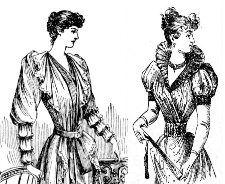 Victorian hairstyles Fluffy curls (1890)