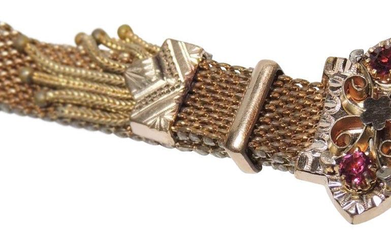 Antique Victorian jeweled garter
