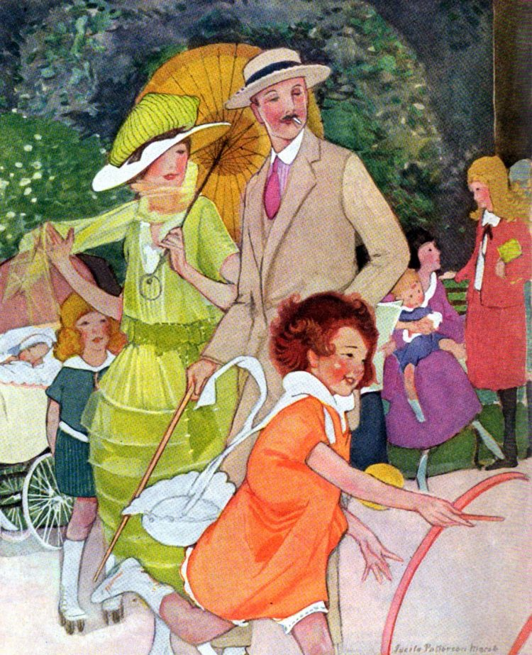 Victorian rolling hoop toys 1920