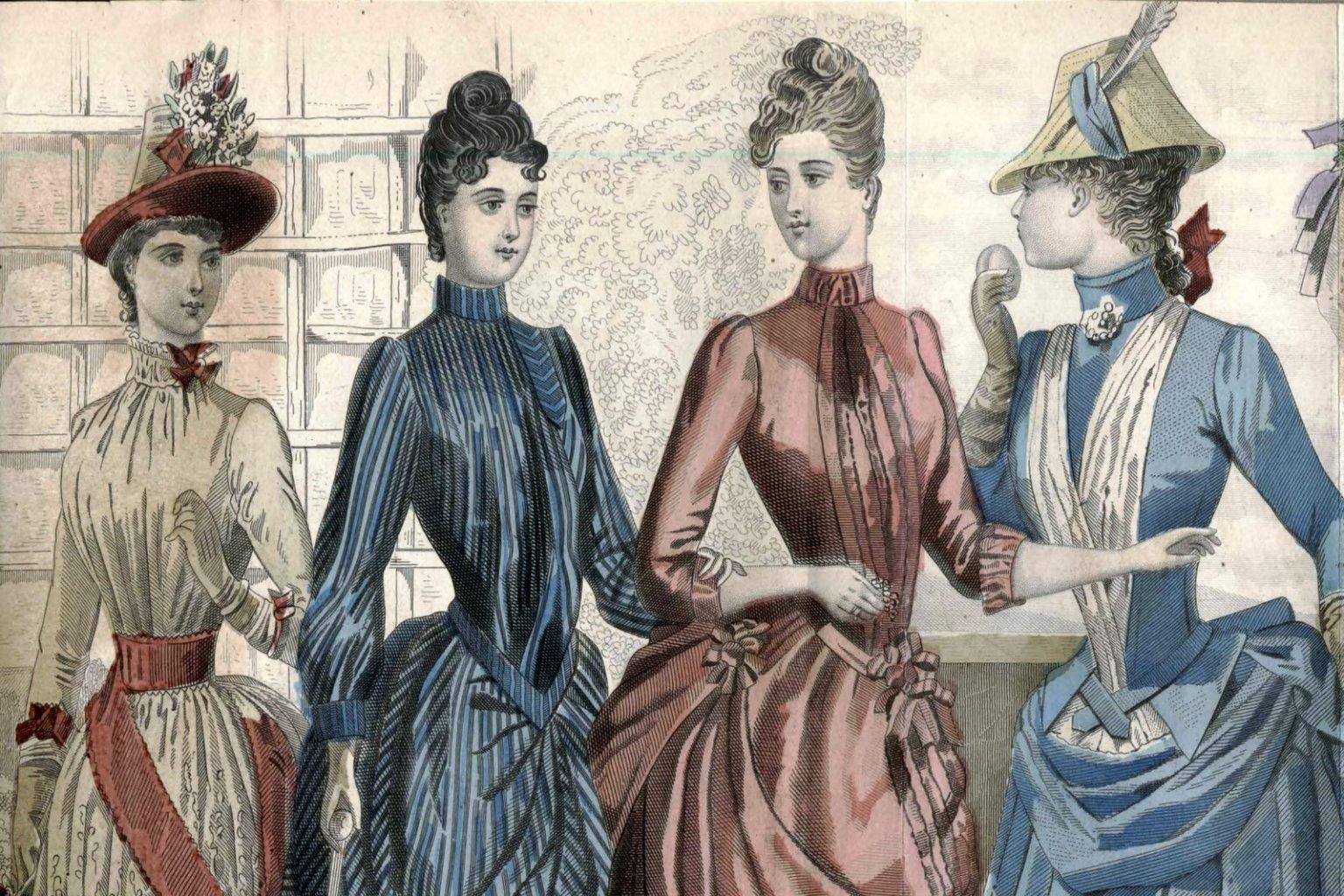 Victorian women's hairstyles (1888)