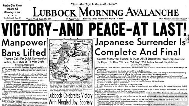 Victory - and peace - at last! Japan surrenders