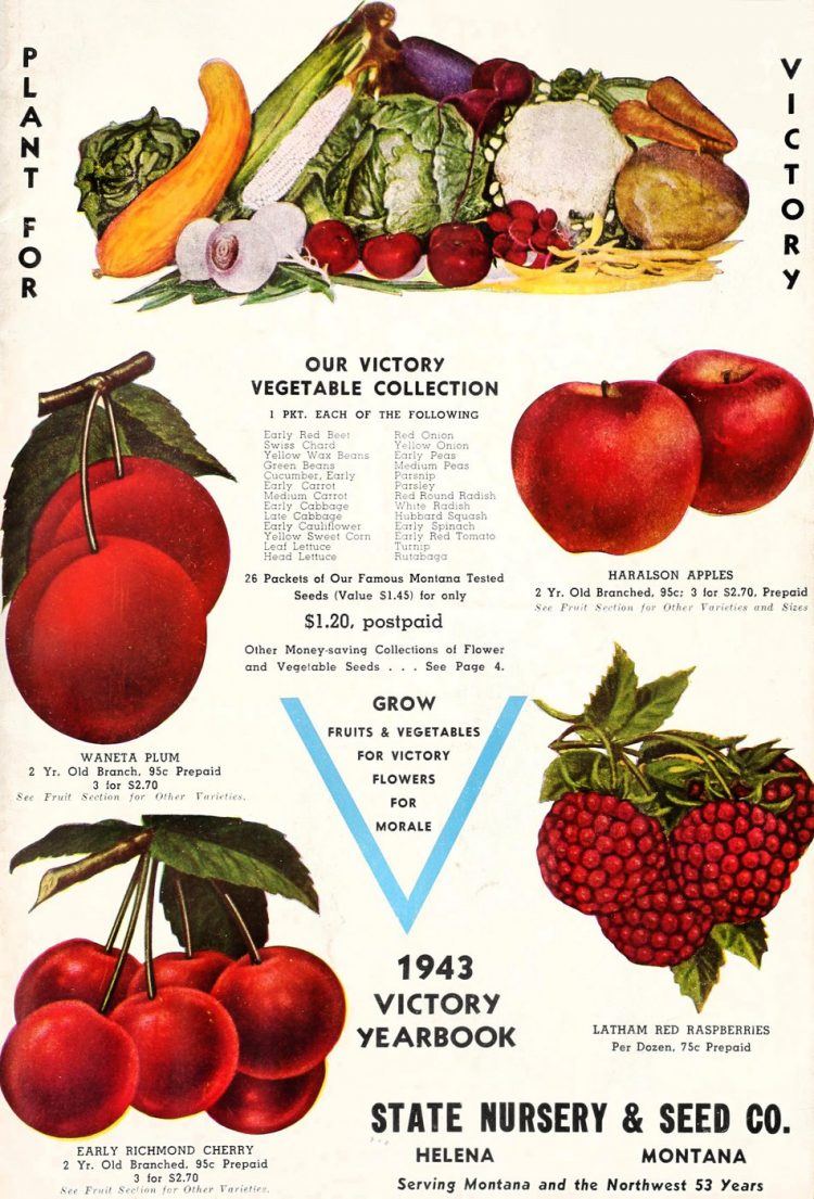 Victory vegetable collection - seed and garden catalog from 1943