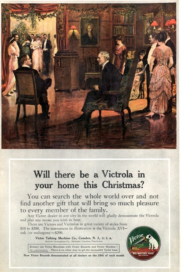 Victrola for Christmas - Antique magazine ad