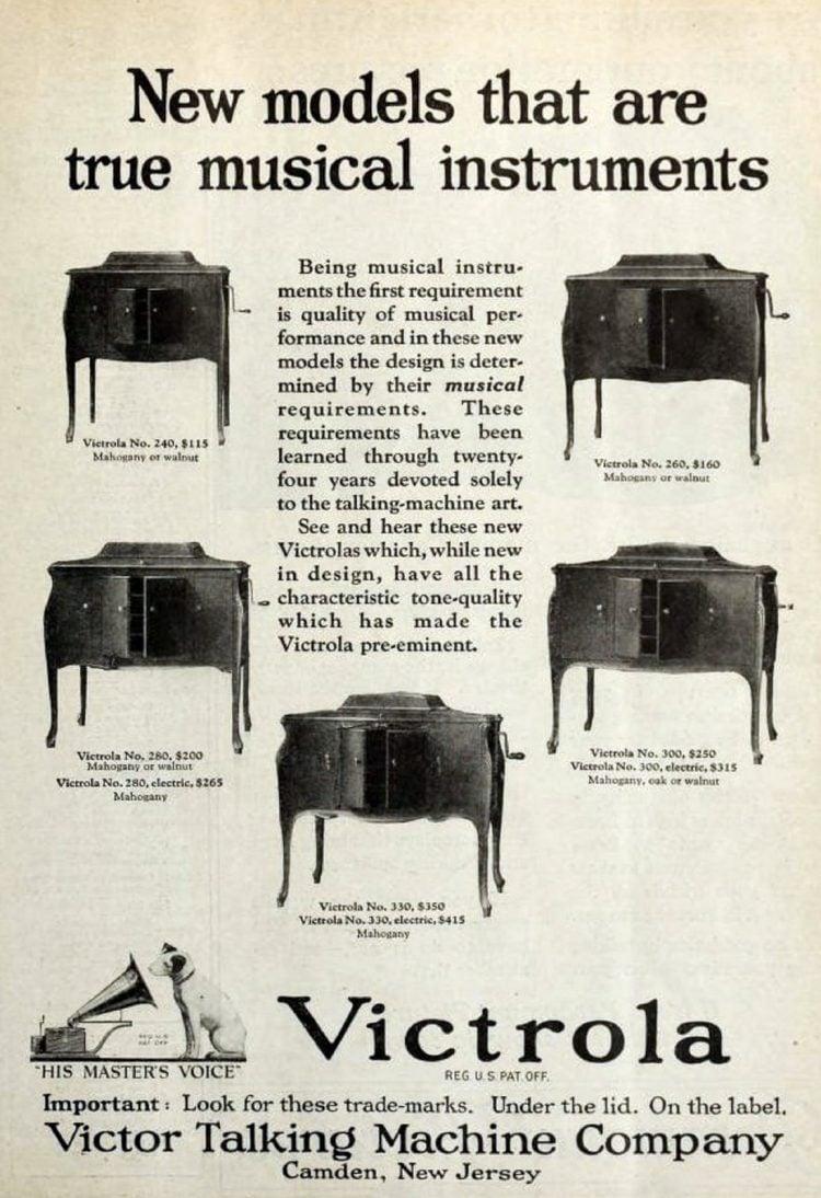 Victrola machines (1922)