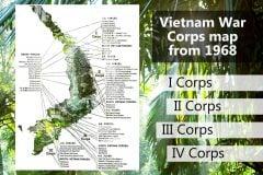 Vietnam War Corps map 1968