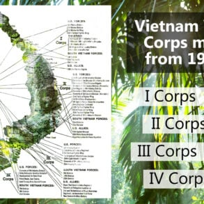 Vietnam War Corps map 1968
