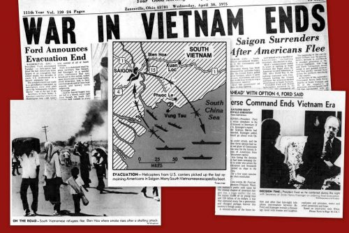 Vietnam War ends Saigon government surrenders (1975)