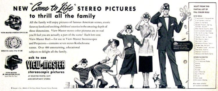 View-Master Stereoscopic Pictures (1953)