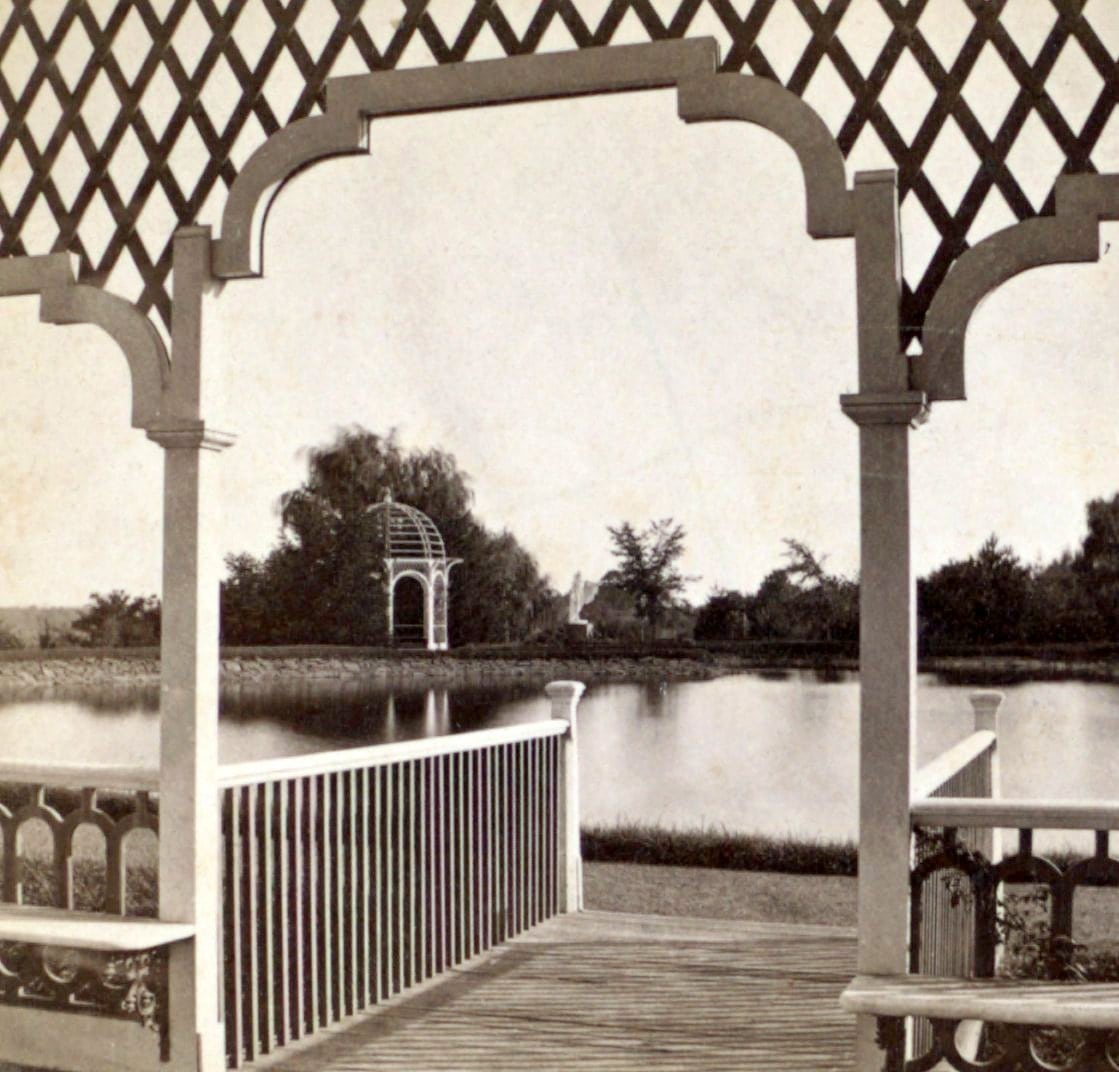 View from Armsmear, residence of Mrs. Samuel Colt, Hartford, Conn, by R. S. De Lamater