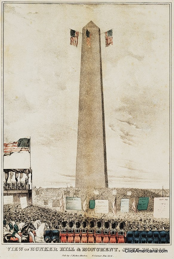 View of Bunker Hill & monument (1843)