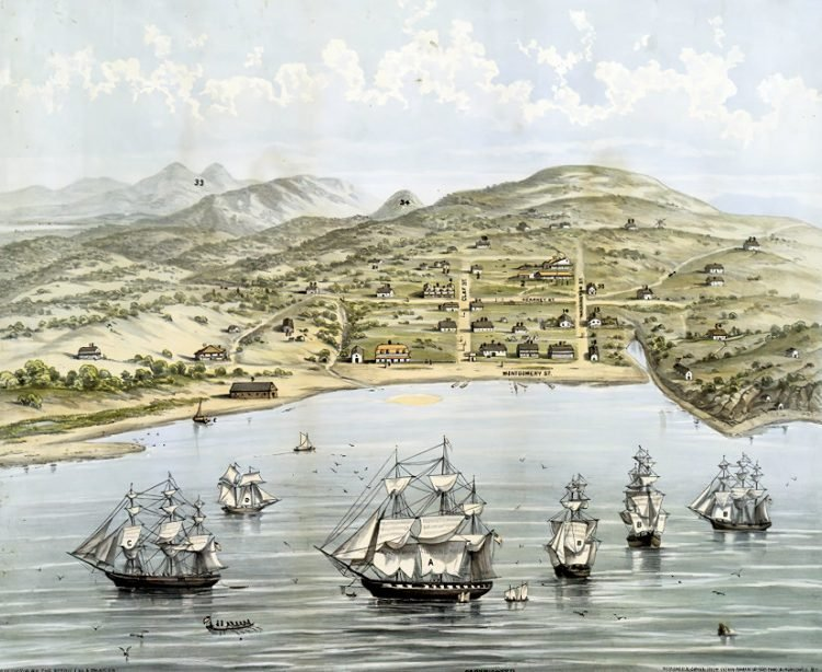 View of San Francisco, formerly Yerba Buena, 1846-7 before the discovery of gold-gigapixel-width-1000px