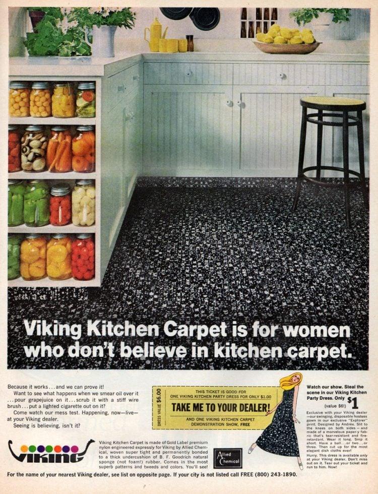 Viking vintage kitchen carpet from 1968